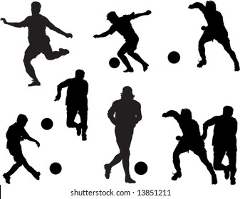 Vector silhouettes of people, sport