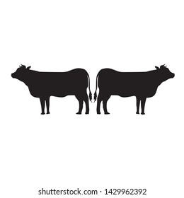Vector Silhoutte of The Cow