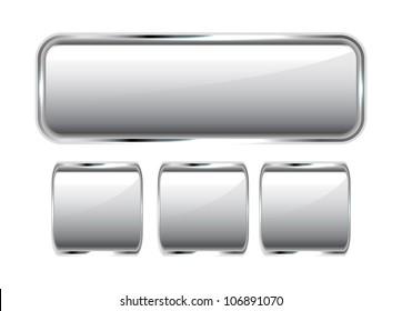 Vector silver buttons