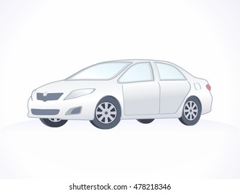 Vector Silver Car Isolated. Sport car.
