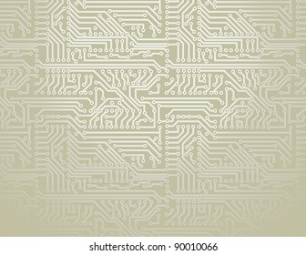 Vector silver circuit board pattern background