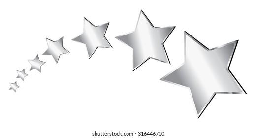 Vector Silver Stars