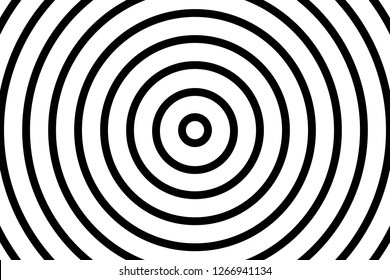 Vector simple black and white background. Spiral in retro pop art style