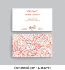 Vector simple business card template decorative stock vector vector simple business card template with decorative ornament original design wave decoration minimalistic friedricerecipe Choice Image