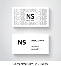 Vector simple  business card template, clean design