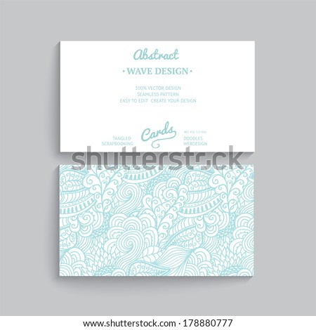 Vector simple business card template decorative stock vector vector simple business card template with decorative ornament original design wave decoration minimalistic accmission Gallery