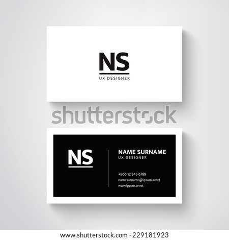 Vector simple business card template clean stock vector royalty vector simple business card template clean design fbccfo Gallery