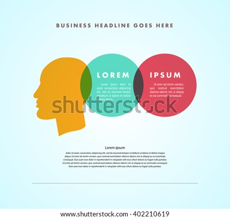 Vector Simple Flat Business Card Template Stock Vector (Royalty Free