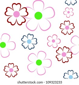 vector simple floral seamless pattern