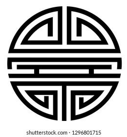 Vector simple Icon Chinese Shou / Longevity Symbol