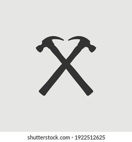 Vector Simple Isolated Crossed Hammers Icon