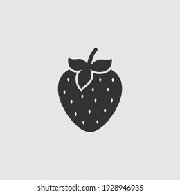 Vector Simple Isolated Strawberry Icon