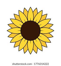 Vektorgrafik mit einfacher Einzelblüte