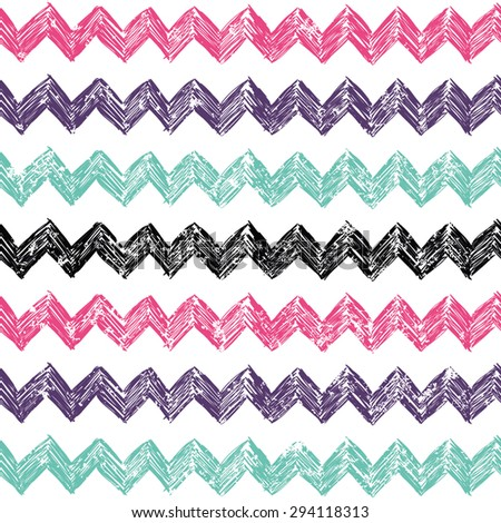 Vector Simple Pattern Zag Zag Background Stock Vector Royalty Free