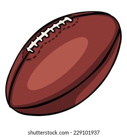 Vector Single Cartoon American Football Ball