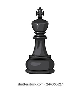 Vector Single Cartoon Chess Figure - King
