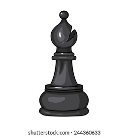 Vector Single Cartoon Chess Figure - Bishop