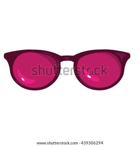 a5123208eedb8 Vector Single Cartoon Sunglasses Stock Vector (Royalty Free ...