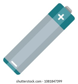 Vector Single Flat Color AA Type Battery Icon