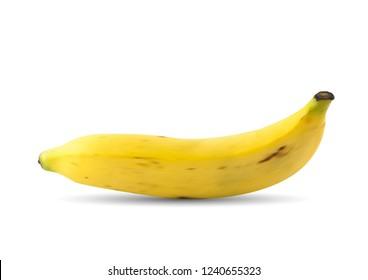 Vector Single Mesh Yellow Banana Fruit.