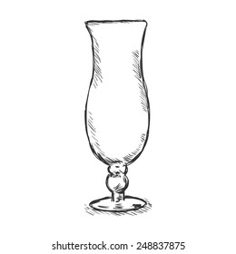 Vector Single Sketch Hurricane Glass