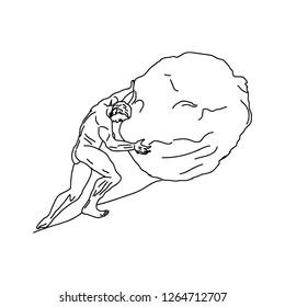 vector Sisyphus labor