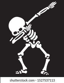 Vector skeleton dancer. Haloween background. Day of the dead
