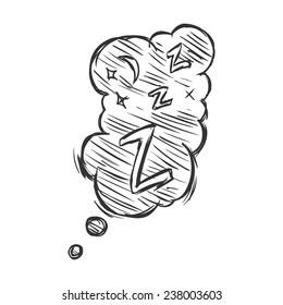 Vector Sketch Comics Bubble -  Z-z-z