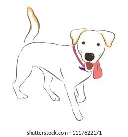 Vector Sketch of Cute dog