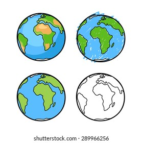 Vector sketch of the Earth.