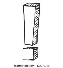 Vector Sketch Exclamation Mark