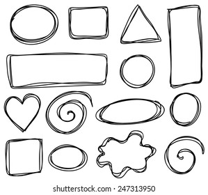 vector sketch frames