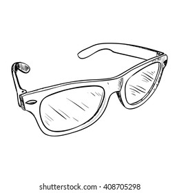 Vector sketch of glasses. Hand draw illustration.