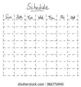 Vector Sketch Hand Drawn Schedule