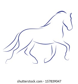 Vector sketch with horse