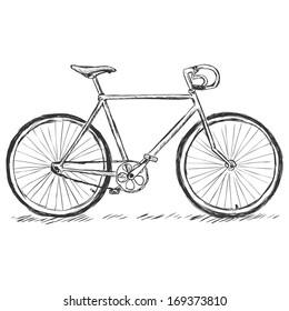 vector sketch illustration - bicycle