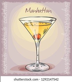 Manhattan Cocktail Stock Illustrations Images Vectors Shutterstock