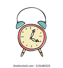 Alarm Clock Illustration Hand Drawn Clock Stock Vector Royalty Free