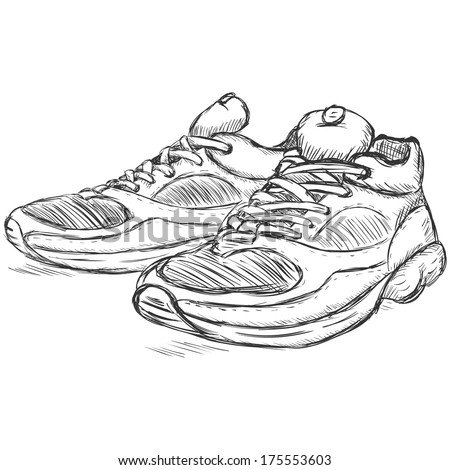 Shoes 库存矢量图 免版税 Running Sketch Illustration Vector qARj34L5