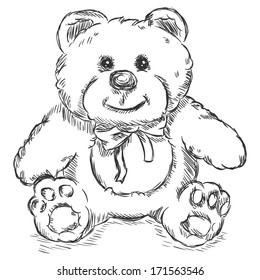 Teddy Bear Drawing Outline Images Stock Photos Vectors Shutterstock
