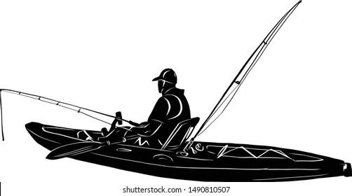 Download Kayak at Sea Stock Illustrations, Images & Vectors ...