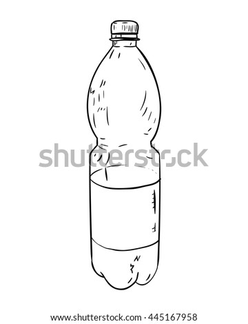 Vector Sketch Plastic Bottle Hand Draw Stock Vector Royalty Free