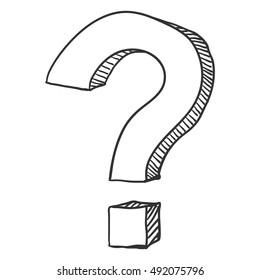 Vector Sketch Question Mark