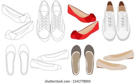 Imágenes, fotos de stock y vectores sobre Sport Shoes Front