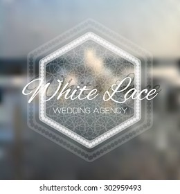 Vector sketch for White Lace wedding agency  logo design.