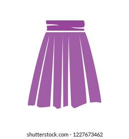 vector skirt template, design fashion woman illustration - women skirt