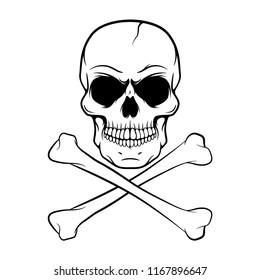 Vector Skull Design - Design Element For Logo, Label, Emblem, Sign, Tee.