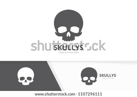 Vector Skull Logo Combination Dead Symbol Stock Vector Royalty Free