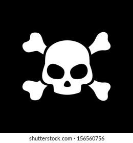 Vector skull on black background