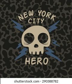 Vector skull slogan